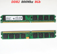 dual channel ddr2 800 8gb desktop pc2-6400 DIMM RAM ddr2 800mhz memroy -- lifetime warranty -- free shipping