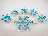 Gorgeous Anime 2014 New Snowflake Style Frozen Princess Snow Queen Elsa Hair pins Set (1 Hair Clip + 5 Small Hair Pin)