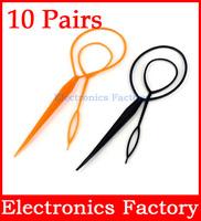 20PCS Plastic Magic Topsy Tail Clip Headwear Hair Tools Styling Casual Pony Fashion Salon Accessory Twist Braid Ponytail Maker