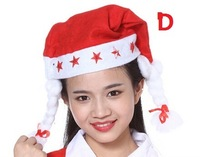 12PCS/LOT 28x38CM Santa Claus Christmas Cap Men Women Unisex Hat Xmas Hat Christma Party Decor Gift Red XD12 Free shipping