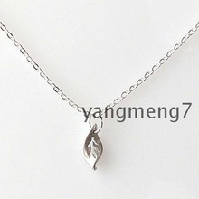 Cupid Ancient Silver Pendant Necklace Jewelry Metal Alloy Plant Leaf Necklace Chain Necklace Fashion Girl Girlfriends