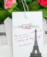 Small MOQ custom made printed tag made of A paper/custom service/art paper hang tag free shipping