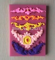 Laciness Shape Fondant 3D Silicone Mould Cake Decoration Emboss Fondant Chocolate Icing Tools -P279