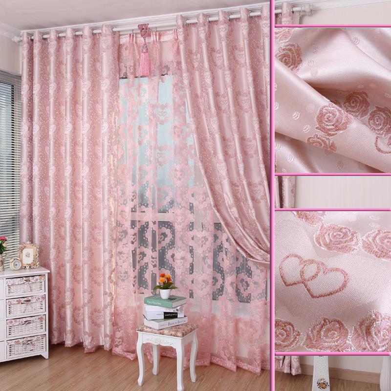 Розовая тюль в интерьере