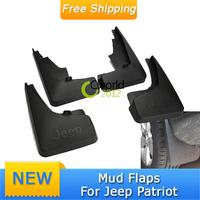 4pcs Auto Splash Guards Front Rear Left Right 1set Mud Flaps Mudguard For Jeep Patriot 2011~2014