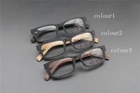 Vintage Acetate prescription eyeglasses Frame Full Rim Cat Eye for man women fashion optical myopia  frame eyewear Wooden  65015