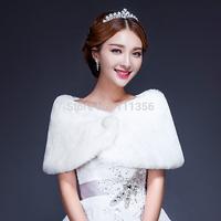 2014 Ivory faux fur shawl wedding wraps accessories bridal faux fur shawl cape