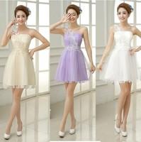 2014 one shoulder short bridesmaid dresses bridesmaid