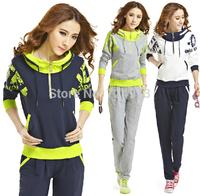 Hot sale Korea style slim fit women plus size clothing set tracksuits,female sport suit jogging suits for women autumn clothes