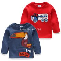 Retail hot sale autumn winter clothes new kids long sleeve fleece t-shirt cartoon warm top undershirt LittleSpring GLS-S0008 XLS