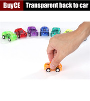 Transparent Pull Back Toys Car Pull Back Plastic Car Toys Support wholesale Free Shipping