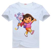 Dora the Explorer Tee t shirt for toddler kids children  Boy Girl t shirt cartoon t-shirt