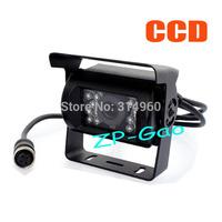 4 Pin Bus Trailer CCD 18 LED IR Night Vision Car Rear View Reverse Camera Bus Truck 10pcs/lot