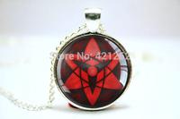10pcs/pcs Naruto Sharingan pendants visions 3 Glass photo Necklace Jewelry