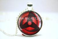 10pcs/pcs Naruto Sharingan pendants visions 7 Glass photo Necklace Jewelry