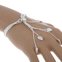 wholesale 925 Silver plated Chain Bracelet Fashion Women Bracelets Free Ship