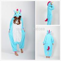 New Arrival Blue Unicorn Women Men Unisex Cosplay Onesie Halloween Christmas Party Costumes Pajamas Anime Jumpsuits Pyjama