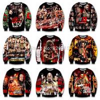 New Arrival 2014 Womens/Mens Hot Wrestling Star 3D Print hoodie Top Sweater Sweatshirt  Free Shipping