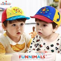 2014 New FUNNIMALS Autumn winter Children Cap Cotton Cartoon phone pattern Kids Visors hats 1-3Y 24030#