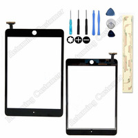 With Free Tools+3M sticker For iPad Mini Touch panel touch Screen Digitizer Replacement Parts free shipping White & Black