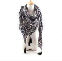 New fall outside the single classic retro palace ladies scarf fringed scarves female wholesale printing