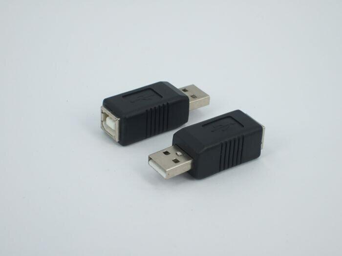By DHL 300pcs/lot USB 2.0 Convertors USB Male to B Female Convertors USB 2.0 Adapters Free Shipping(China (Mainland))