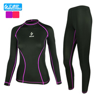 Running tights women sweat-absorbent and quick-drying cycling running jersey football basketball gym stretch long sleeve suit