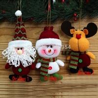 Free Shipping 10pcs Merry christmas tree decorations Mini Hanger doll Hang ornament Xmas Tree baubles Xmas Party Decoration36236