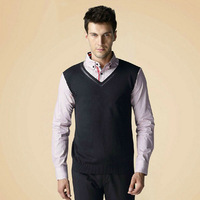 Men's clothing spring and autumn business long-sleeve shirt collar faux two piece cotton sweater male business casual top