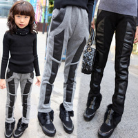 2014 winter new arrive Hot girls fight Piga velvet pants feet straight foreign trade kids warm pants with Thickening