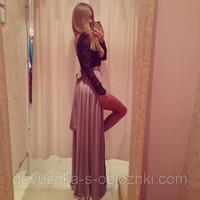 Free Shipping 2014 Russian Vestidos De Fiesta A Line Long Sleeves V Neck Split Evening Dresses Women Dresses Party Dress MDf3205