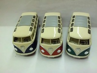 Diecast minibus alloy car model toy 1:24 KT open the door school bus