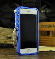 aluminum metal phone protection border Transparent bumper parachoques with metal button case for Apple iPhone6 iphone 6 Plus
