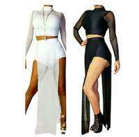 New fashion summer Sexy dress 2014 Celebrity Bandage Bodycon Dress Backless Maxi Midi Evening Party Prom OL Club Dress Two Piece