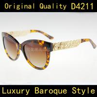 Brand Vintage Designer Fashion Original Women Sunglasses D4211 Retro Sun Eye Glasses Oculos Do Sol Feminino Outdoor Sunglass