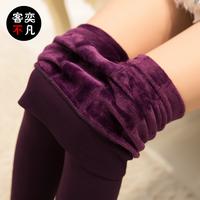 2014 elastic high waist plus velvet thickening female autumn and winter legging one piece step plus size skinny pants