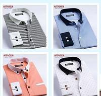 2014 men autumn spring casual stripe shirt male fashion long-sleeve slim casual shirt businese casual dress shirts england style