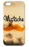 Retail C089 yellow mustache case for cell phone/ plastic mobile phone sex case for sumsung s4
