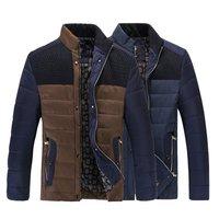 2014 men's winter jacket down jacket coat cotton casual outdoor warm coat thick coat jacket men M- 3XL
