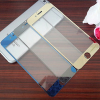 """High 2.5D Mirror Tempered Glass Screen Protector Film Cover Premium Colorful Screen Protector Guard for iphone 6 6th 4.7"""""""