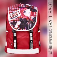 New Anime Cartoon Japanese Love Live Nishikino Maki Red Oxford Fabric Shoulders Laptop Purse Bag Packet Backpacks