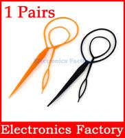 2PCS Plastic Magic Topsy Tail Clip Headwear Hair Tools Styling Casual Pony Fashion Salon Accessory Twist Braid Ponytail Maker