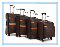 Free shipping PU suitcase 2015 Europe Classic Design style  rolling luggage unisex  Expandable Spinner Trolley