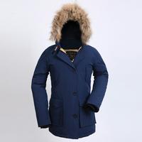 Woolrich Winter Women Coat Down Warm Real Fur Hooded Down Jackets White Duck Down Thick Raccoon Parka Medium-long Coat