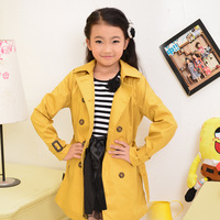 Free shipping children's clothing  large female child autumn top outerwear 6 - 8 - 9 child trench spring and autumn