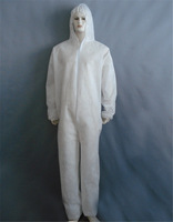 Disposable non-woven protective clothing adult painted work wear coverall one piece hooded bunny suit protective equipment