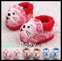 1 Pairs Cotton Cute Cartoon Cat Baby Shoes Toddler Unisex Soft Sole Skid-proof Kids girl infant Shoe First Walkers 1234
