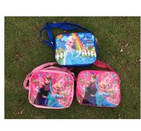 Frozen Elsa Anna Shoulder Messanger Bag Girls Kids Food Insulated Lunch Bag Free Shipping