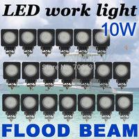 20x10W Round CREE LED Work Light Bar FLOOD 800LM Driving Reverse 4WD Lamp 12V 24V