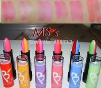 24pc/BOX  6color 2in1 Color Effect Waterproof  Lip Balm Lipstick moisturizing lip balm Gift Wholesale Dropship